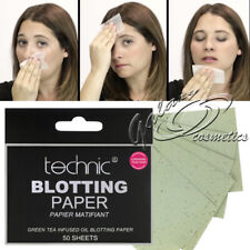 Technic Oil Absorbing Blotting Paper with Green Tea 50 Mattifying Sheets