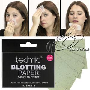 Technic Oil Absorbing Blotting Paper with Green Tea 50 Mattifying Sheets