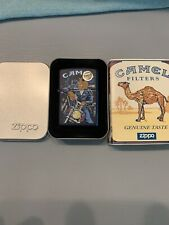 New Listing1998 Camel Joe On The Handle Bars Zippo . Navy Matte . Unstruck With Sleeve