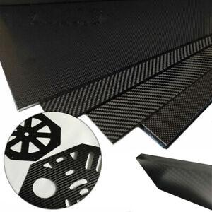 WQ 0.5mm-5mm 3K 100% Carbon Fiber Plate Panel Sheet Matte Plain Woven 200x300mm