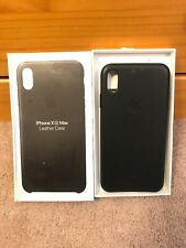 Apple Official iPhone XS Max Leather Case ( Black ) MRWT2ZFE/A