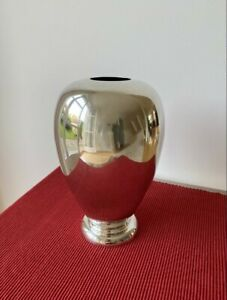 Gunther Lambert Vase Horta versilbert 24,5 cm hoch modern
