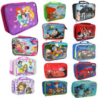Childrens Kids Boys Girls Insulated Lunch Pack Bag School Lunch Box Picnic Bag