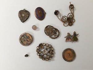 Interessantes Konvolut mit sehr alten Schmuckteilen - Bodenfunde - s. Fotos