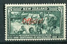 New Zealand KGVI 1940 Official halfpence blue-green SG.O141 MNH