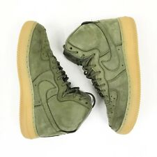 Nike Air Force 1 High WB (GS) Kids Shoes Size 6Y Olive Suede Gum 922066 202