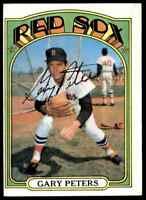 1972 Topps Gary Peters Autograph Jsa Auction Coa Auto Boston Red Sox #503