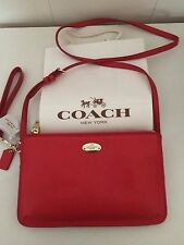 NWT COACH LYLA DOUBLE GUSSET CROSSBODY IN CARDINAL RED $250