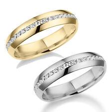 Gelbgold / Weißgold Ehering Verlobungsring Antragsring Vollkranz GOLD 585 / 333