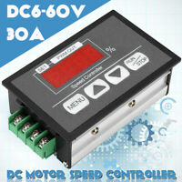 DC Motor Speed Governor 6-60V PWM Module 30A Digital Controller Switch