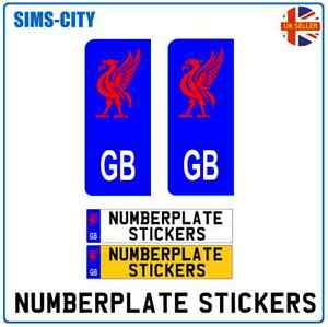GB LIVERPOOL LIVER BIRD REPLACEMENT NUMBERPLATE NUMBER PLATE STICKER VINYL LIV10
