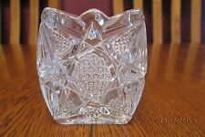Beautiful Antique EAPG U.S. Glass Illinois Square Star Pattern Toothpick Holder