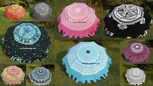 Indian Cotton Mandala Print Garden Umbrella Sunshade Parasol Outdoor Patio Decor