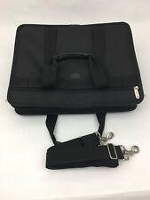 Targus Laptop Soft Carry Bag Adjustable Shoulder Strap Black Nylon and Leather