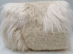 Pottery Barn Mongolian Patchwork Faux Fur Bean Bag Slipcover ONLY Large #9790H
