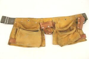 McGuire-Nicholas Nylon Workbelt Warbelt With Leather Work Pouches