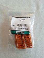 CIDOR-C PANDUIT Plastic Snap-In Port Identifier Mini-Com Data Icon Orange 100