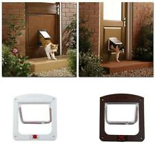 New Dog Cat Pet Locking Large Cat Small Dog Flap White Catflap Pet Door Hot Sale
