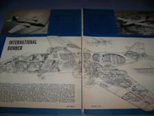 VINTAGE...AMERICAN B-57A CANBERRA...HISTORY/PHOTO/CUTAWAY...RARE! (878)