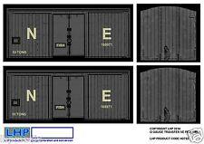 HORNBY O GAUGE 7MM NE NORTH EASTERN FISH VAN CONVERSION OVERLAY TRANSFER