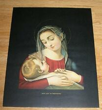 VINTAGE GAETANO OUR LADY OF PROVIDENCE ST MARY OF THE WOODS COLOR LITHO PRINT