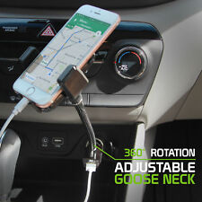 Car Gooseneck Cell Holder Cradle with USB Charging Port For iPhone 8 Plus / 7S
