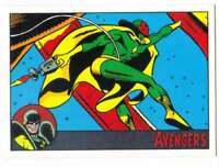 2015 Marvel Avengers Silver Age Silver Foil /100 #64 Vision Trading Card