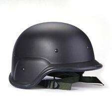 Casque Militaire Tactique Swat Casque Noir Protecteur Bretelles Reglables B1U1