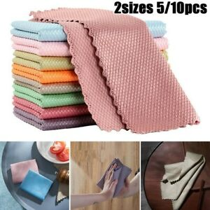 5/10PCS NanoScale Streak-Free Miracle Cleaning Cloths (Reusable) Easy Clean