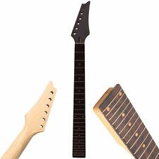 Electric Guitar Neck 24Fret Square Heel Rosewood Fretboard Black Triangular Head