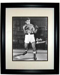Boxing Legend Rocky Marciano 8x10 Photo In 11x14 Black Frame #1
