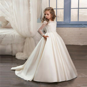 Flower Girl Dress Communion Bridesmaid Wedding Party Prom Princess Pageant