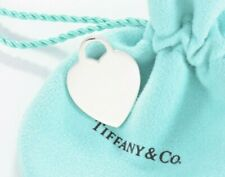 Tiffany & Co Sterling Silver Blank Heart Tag Double Love Charm Pendant