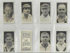 More details for complete set 40 major drapkin cigarette cards  australian & english cricketers
