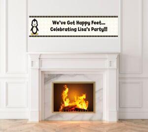 Penguin - Baby Shower Printed Banner - Indoor Outdoor Penguin Banner