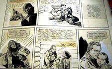 40s BRUNO PREMIANI ORIGINAL ART PAGE WESTERN COMIC ARGENTINA TOMAHAWK