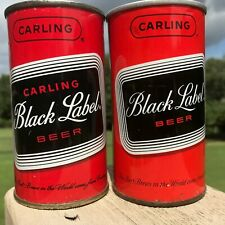 Two (2) Indoor Black Label Cans From Carling - Baltimore - Flat and Fan - Nice!