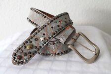Gürtel Leder Reptil Print Nieten Ledergürtel Jeansgürtel heine impression 85 cm