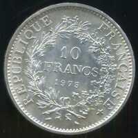 FRANCE  10 francs 1973  ( SPL)   HERCULE   ARGENT
