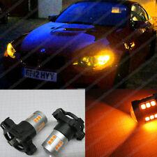ANTERIORE py24w Amber arancione CREE LED Indicatore Lampadine Canbus BMW 3 e90 e91 e92 e93