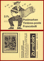 Schweiz 1984 Volksbräuche, postfrisches Markenheft ** MNH, Mi 0-78i, SBK 0-78b