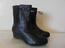 $299 NEW Sz.7.5 TARYN ROSE WOMENS  LEATHER BLACK BOOTS