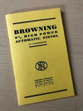 Browning FN High Power pistol manual 9MM