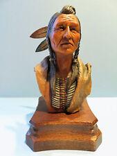 "Anri 7"" Woodcarving Figure Bust Design By Edward Rohn ""Kiowa Brave"" Ltd Ed"