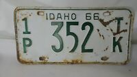 1966 Idaho License Plate Vintage