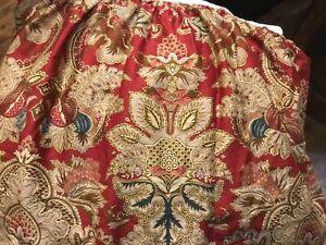 """Ralph Lauren Home Jardiniere Paisley Dust Ruffle Bed Skirt QUEEN Drop 14"""" Split"""
