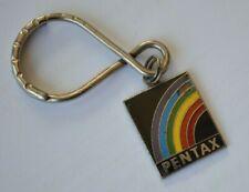 Vintage Pentax Keychain Rainbow Metal Enamel Camera Key Ring