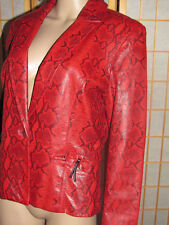 """SIENA STUDIO 12 Red Serpentine Real Leather Quality Unique Women Fall Jacket 40"""""""
