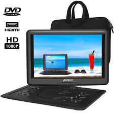 "Portable DVD Player 16"" Swivel Screen 6 Hour Battery 1366*768 HDMI USB+Carry Bag"