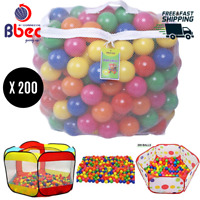 200 Crush Proof Plastic Balls Multicolor Reusable Pit Balls For Inflatable Tent